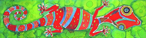 Silky Gecko Print by Kelly     ZumBerge