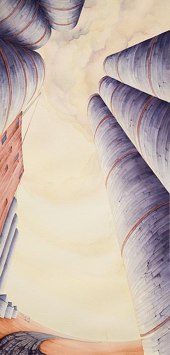 Silos Iv Print by Scott Kirby
