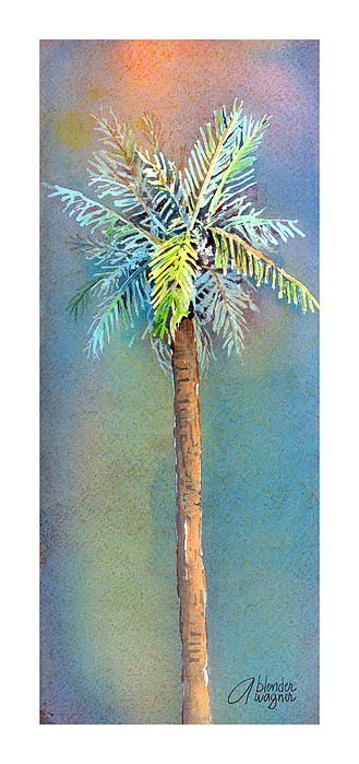 Simple Palm Tree Print by Arline Wagner