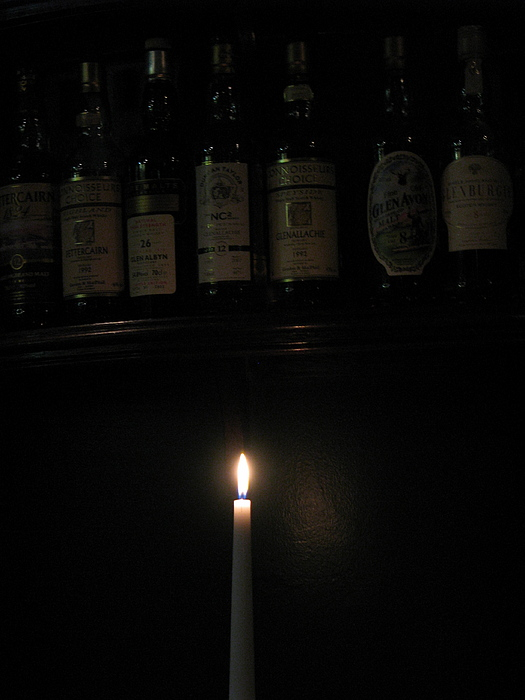 Sipping By Candlelight Print by Staci-Jill Burnley