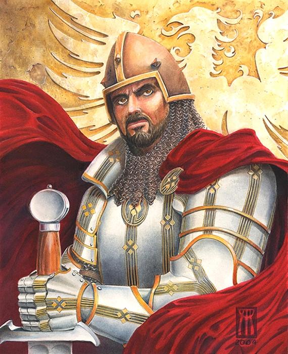 Sir Gawain Print by Melissa A Benson