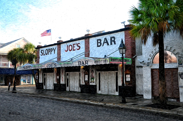 Sloppy Joe's Bar Key West Print by Bill Cannon