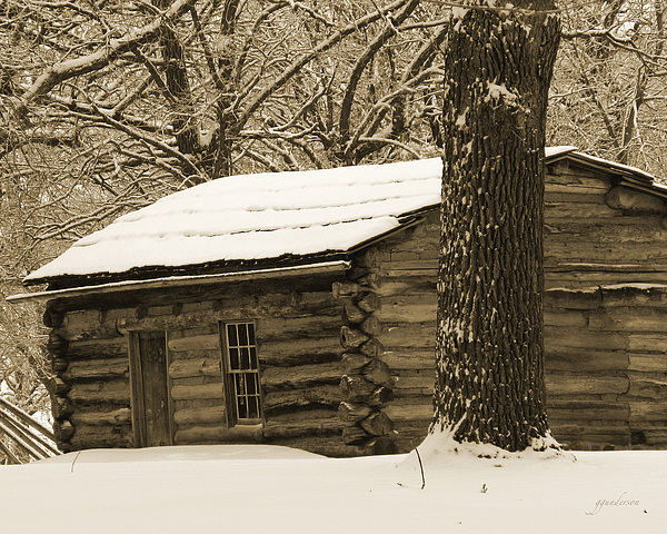 Snow Covered Gardner Cabin By Gary Gunderson