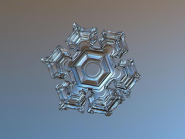 Alexey Kljatov - Snowflake photo - Cold metal