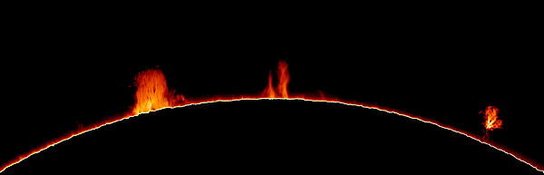 Solar Prominences Print by Greg Piepol and Photo Researchers