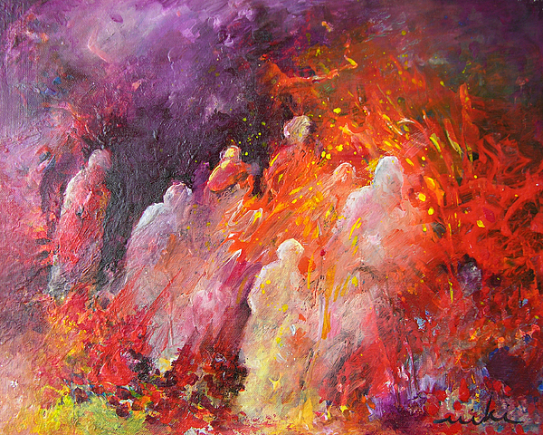 Souls In Hell Print by Miki De Goodaboom