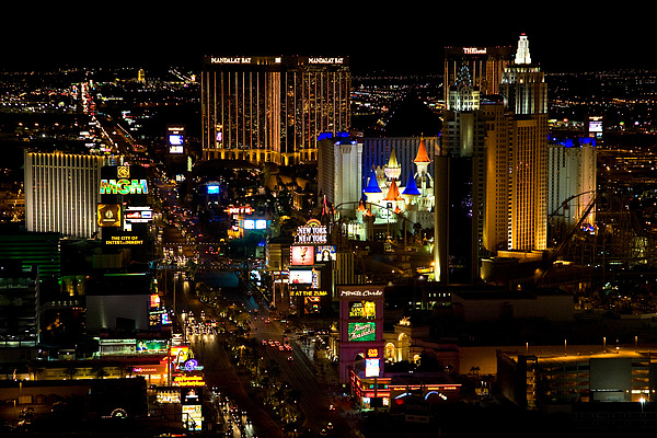 South Las Vegas Strip Print by James Marvin Phelps