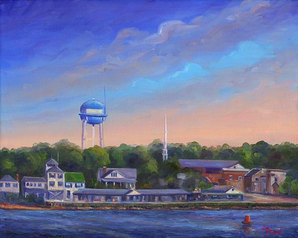 Southport Nc Waterfront Print by Jeff Pittman