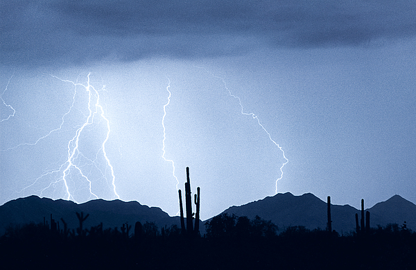 Southwest Desert Lightning Blues Print by James BO  Insogna