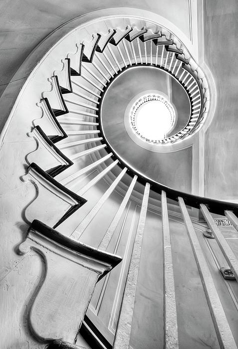 Spiral Staircase Lowndes Grove Print by Dustin K Ryan