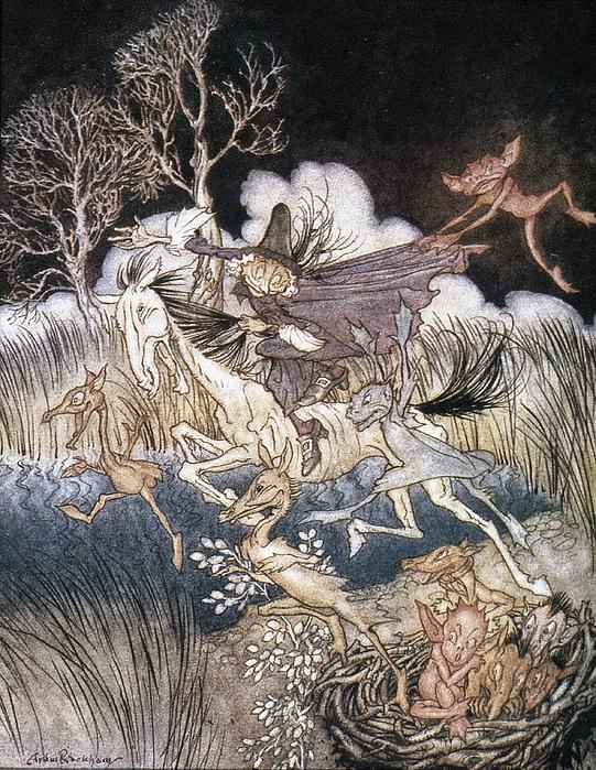 Spirits In Sleepy Hollow Print by Granger