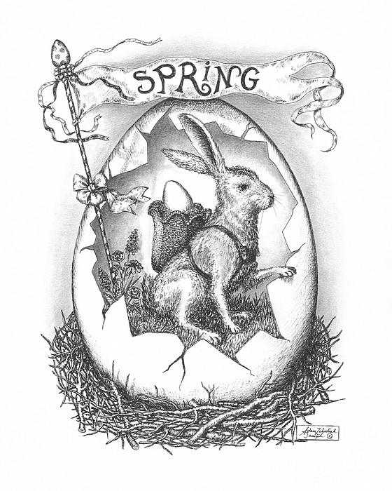 Spring Arrives Print by Adam Zebediah Joseph