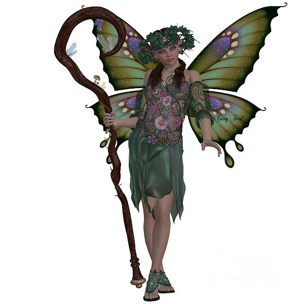 Spring Fairy Print by Corey Ford