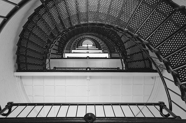 St. Augustine Lighthouse Spiral Staircase IIi Print by Clarence Holmes