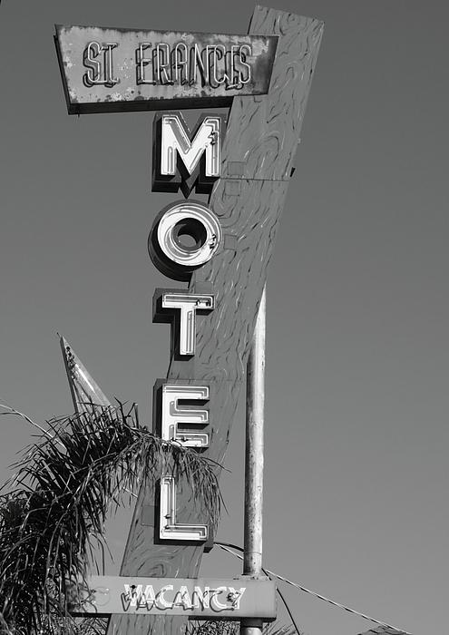 St Francis Motel Stockton Ca Print by Troy Montemayor