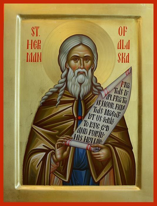 St. Herman Of Alaska Print by Daniel Neculae