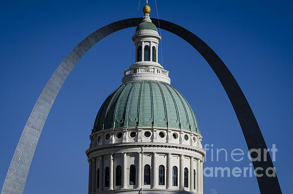 St. Louis Arch Print by Andrea Silies