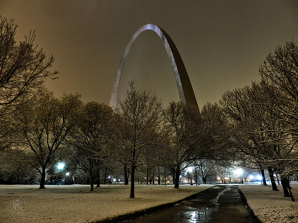 St. Louis - Winter At The Arch 002 Print by Lance Vaughn