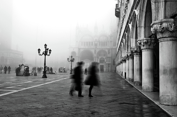 St Mark's Square Print by Marion Galt