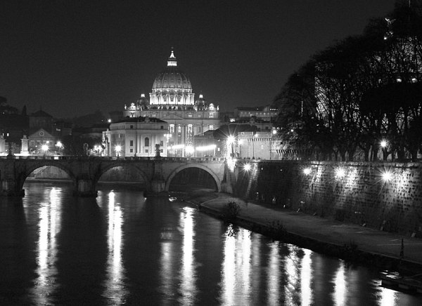 St. Peters At Night Print by Donna Corless