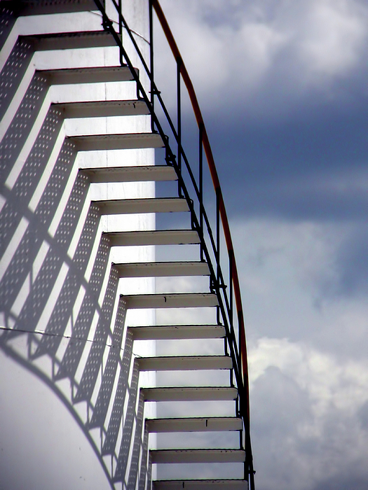 Stairs In The Sky Print by David April