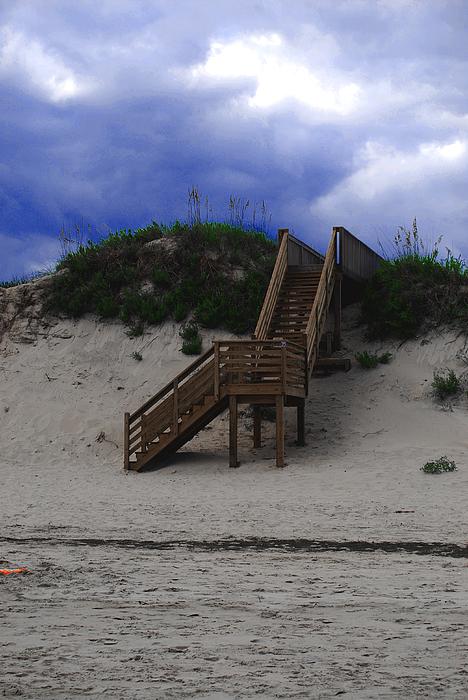 Stairway To Reality Print by Linda Mesibov