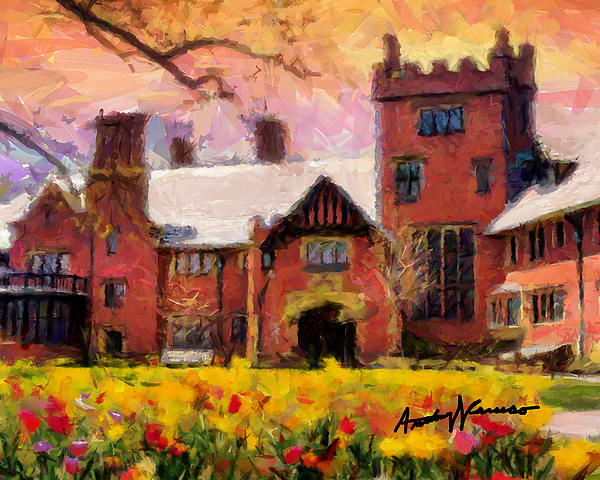 Stan Hewyt Hall And Gardens Print by Anthony Caruso