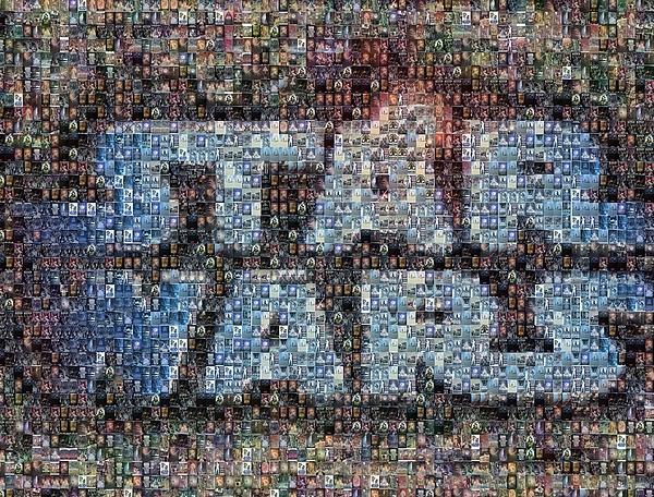 Star Wars Posters Mosaic Print by Paul Van Scott