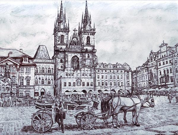 Staromestske Namesti Print by Gordana Dokic Segedin