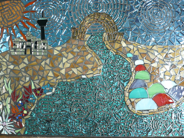 Starry Riverwalk Print by Ann Salas