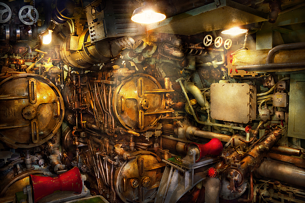 Steampunk - Naval - The Torpedo Room Print by Mike Savad