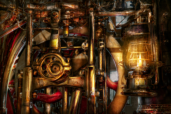 Steampunk - Mechanica Print by Mike Savad