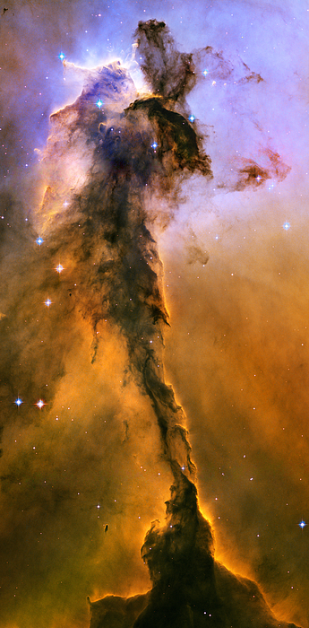 Stellar Spire In The Eagle Nebula Print by Nicholas Burningham