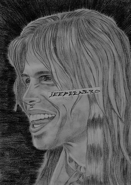 Steven Tyler Portrait Image Pictures Print by Jeepee Aero