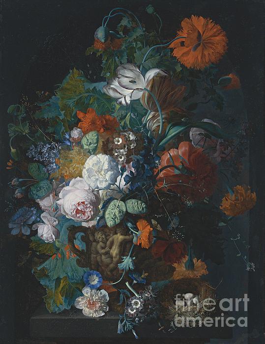 Van Huysum - Still Life with Flowers