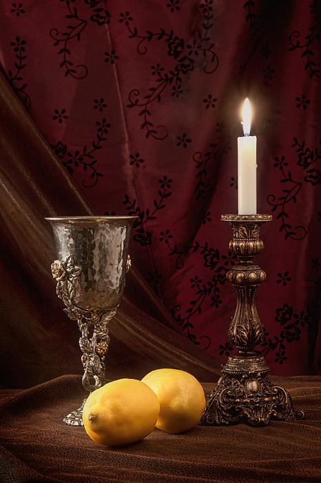 Still Life With Lemons Print by Tom Mc Nemar