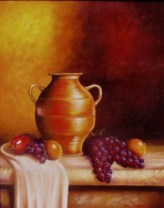 Still Life With Pot Print by Gene Gregory