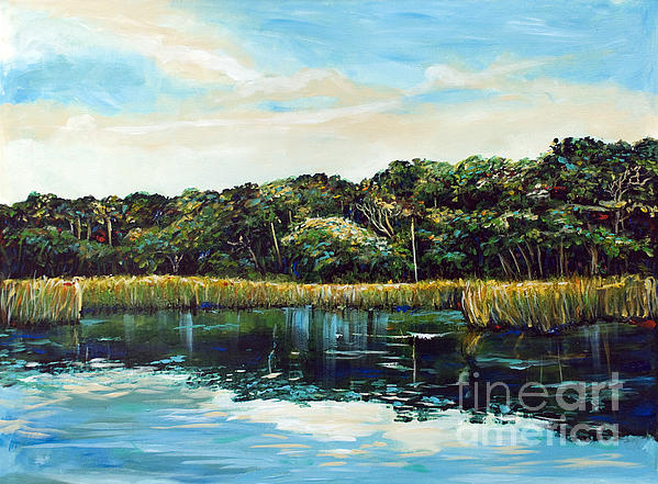 St.johns River Print by Linda Olsen