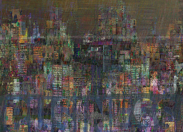 Storm In The City Print by Andy  Mercer