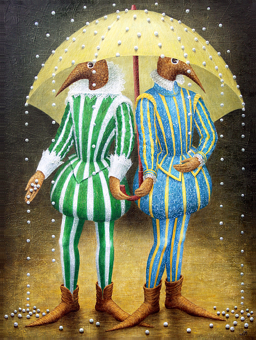 Strange Rain Print by Lolita Bronzini