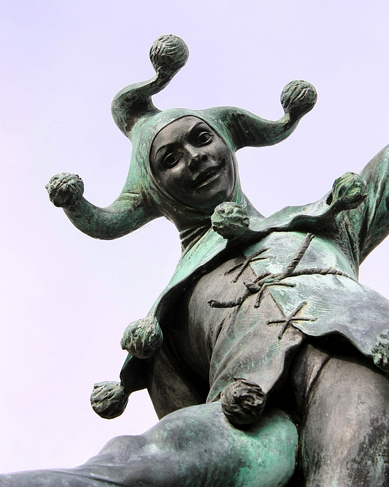 Stratford's Jester Statue Print by Terri  Waters