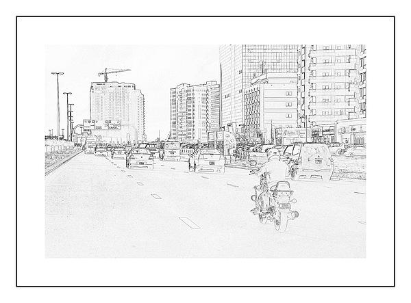 Street Activities Print by Hussein Kefel