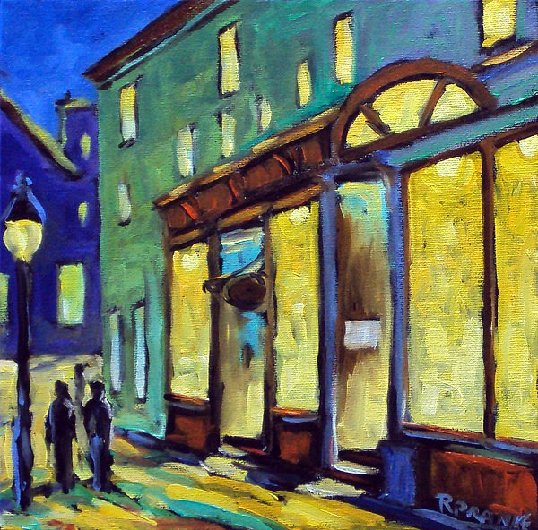 Streets At Night Print by Richard T Pranke