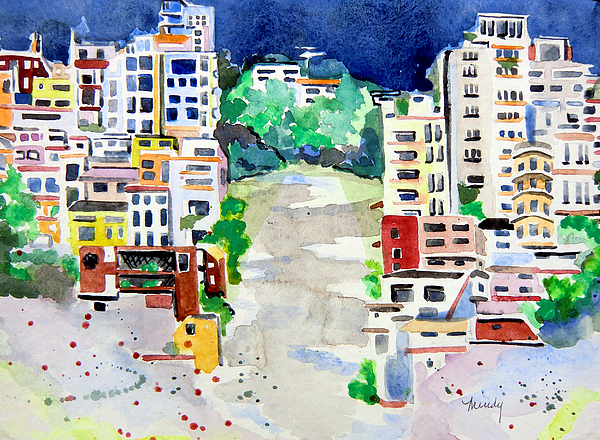 Streets Of San Francsico Print by Mindy Newman