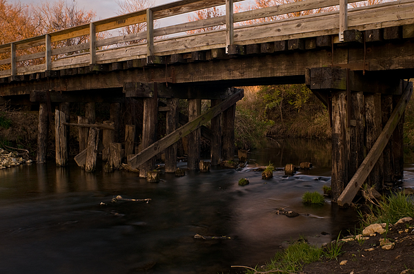 Sugar River Trestle Wisconsin Print by Steve Gadomski