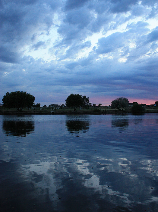 Summer Sunset On Yakima River 5 Print by Carol Groenen