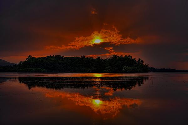 Dale Kauzlaric - Summer Sunset Over Lake Wausau