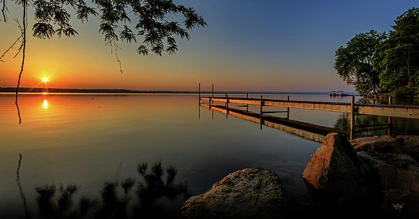 Sunrise Over Cayuga Lake Print by Everet Regal
