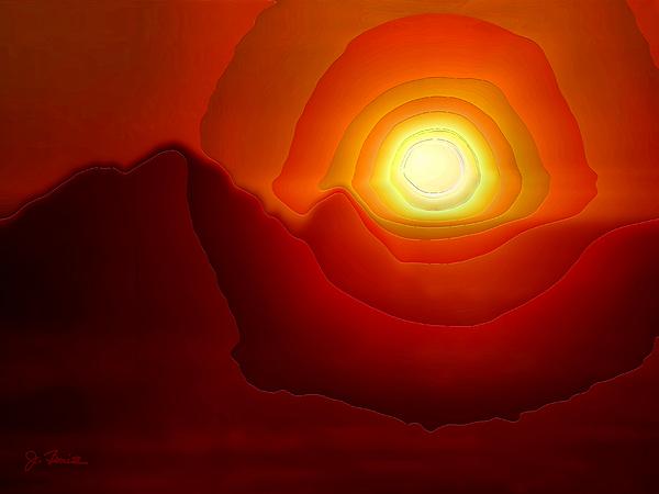 Sunset At Seal Rocks No. 3 Print by Joe Bonita
