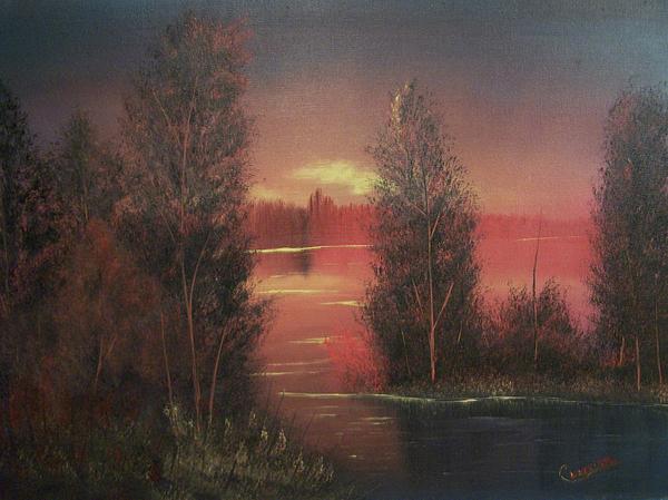Sunset Print by Chet Wheeler